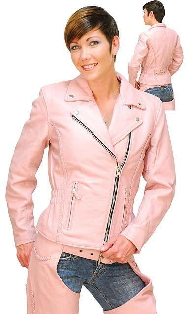 Light Pink Leather Jacket - Road Angel Motorcycle Jacket | My ...