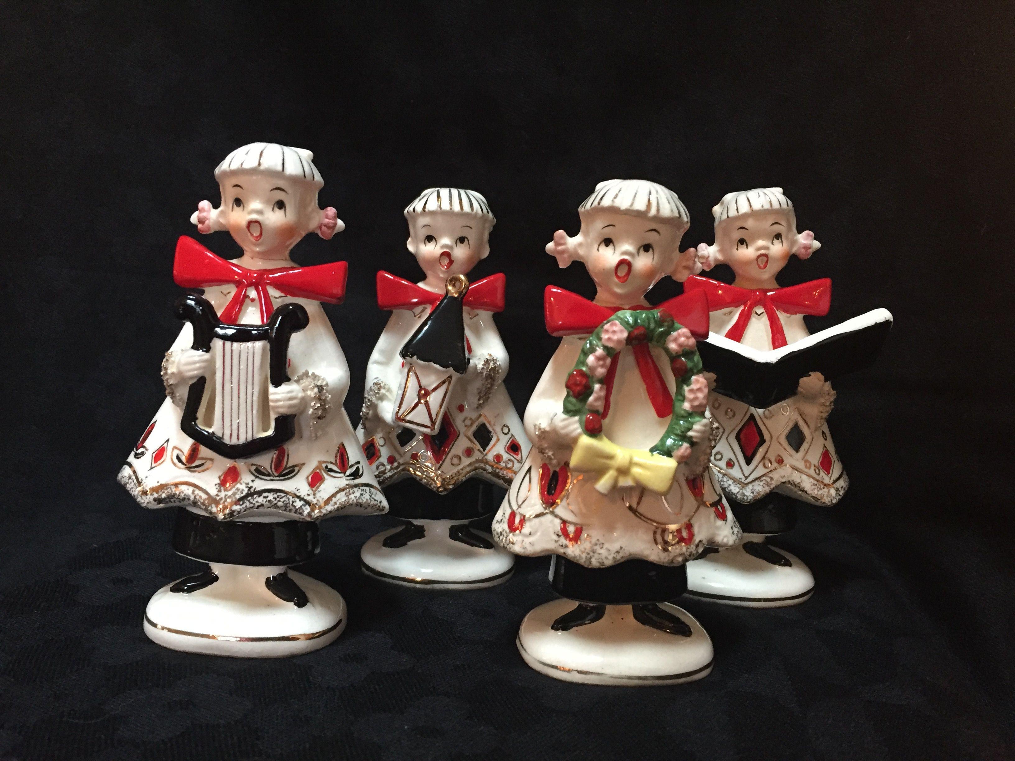 Christmas carolers figurines for sale - Vintage Christmas Carolers Figurines