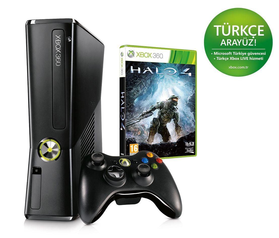 Xbox 360 S 250gb Konsol Halo4 Kapida Odeme Guvencesi Ile Guvenli Alisveris Xbox 360 Xbox Konsol