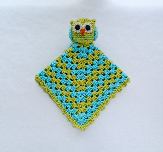 Instant Download Pdf Crochet Pattern Owl Security Blanket Text