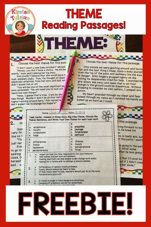 Free This Theme Lesson Is Perfect For An Introduction Or Review