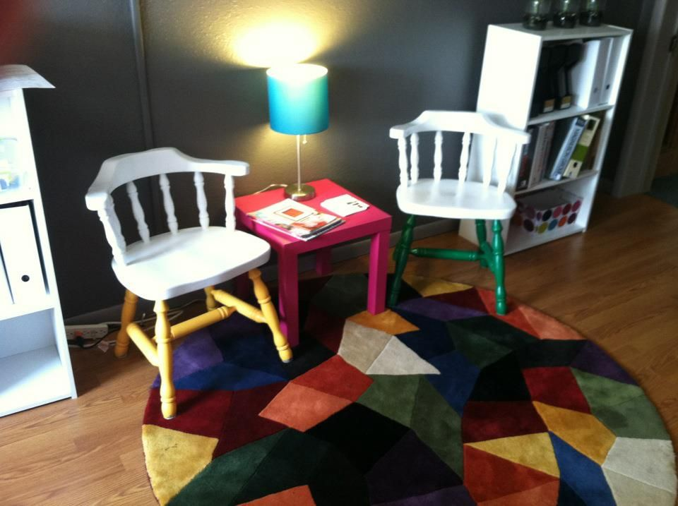 These chairs came from Habitat for Humanity ReStore. They needed a little love. Now they look GREAT!