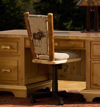 Frontier Upholstered Swivel Desk Chair