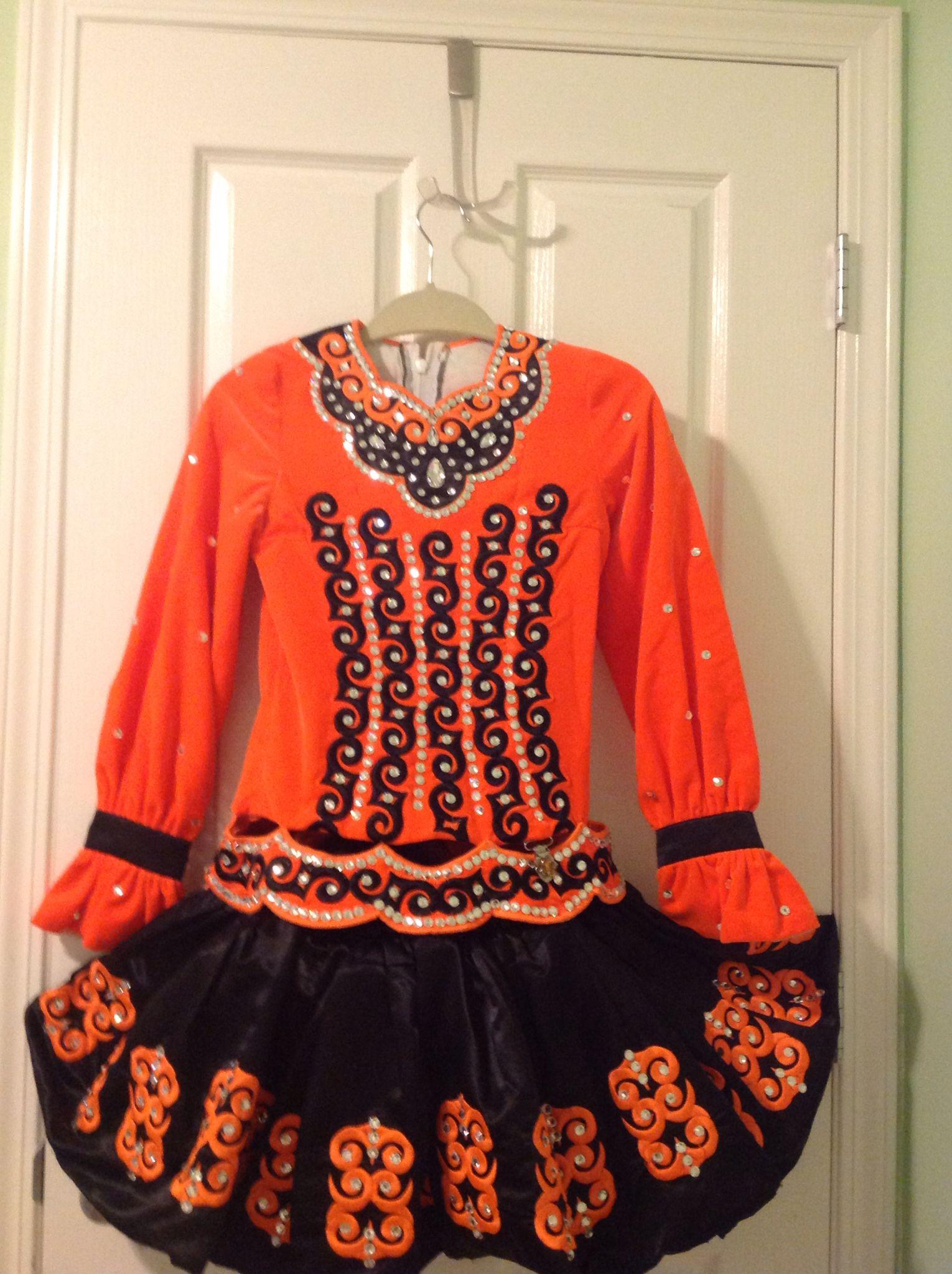My orange and black solo dress!