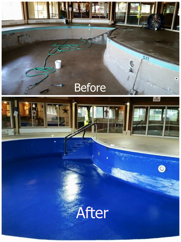 Diy Repairing And Resurfacing Swimming Pool Swimming Pool Repair