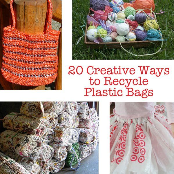 20 Creative Ways To Recycle Plastic Bags Recycled Plastic Bags Plastic Bag Crafts Plastic Bags Diy