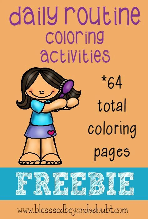 super cute daily routine coloring pages help teaching