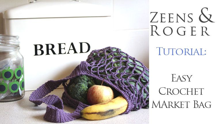 Easy One Skein Crochet Market Bag. Free Pattern | ❤ Zeens and ...