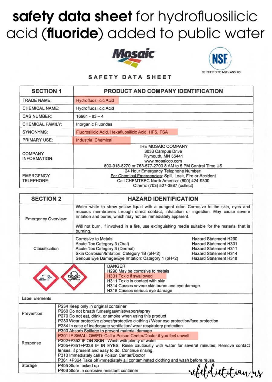 Get the F Out! Environmental health and safety, Fluoride