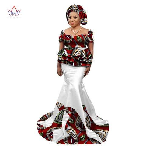 b0b143773 African Skirt and Blouse Set for Women, Plus Size Traditional African  Clothing - Owame