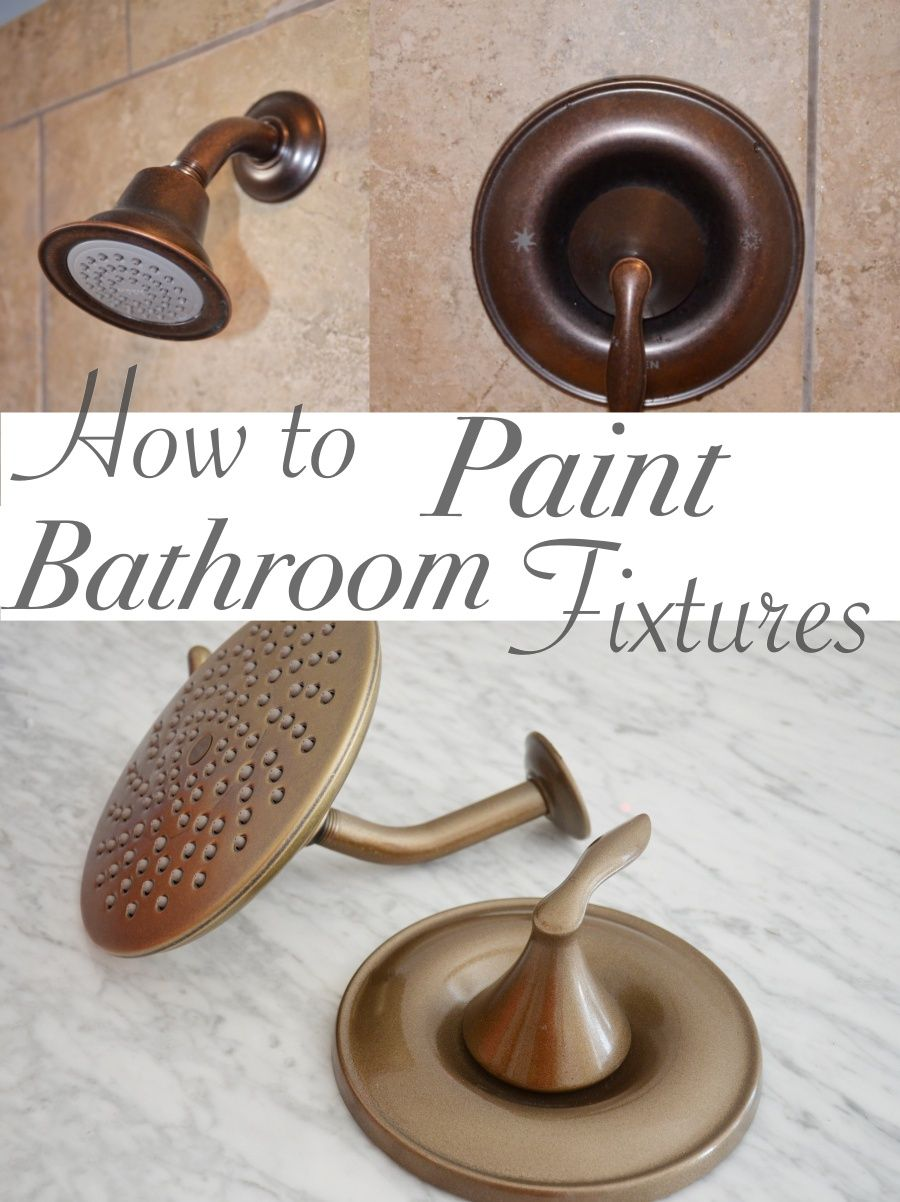 Ordinaire One Room Challenge  Week 3: Bathroom Vanity And Painted Faucets