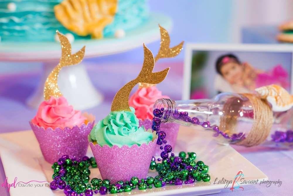 Mermaid theme Birthday Party Ideas Photo 7 of 19