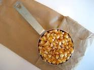 Alton Brown's recipe for Microwave Popcorn in a bag! I do this all the time now... so inexpensive and  it's DELICIOUS and HEALTHY! I'd definitley recommend just folding the bag though skip the staples. After a while, it causes hot spots to start in your microwave!