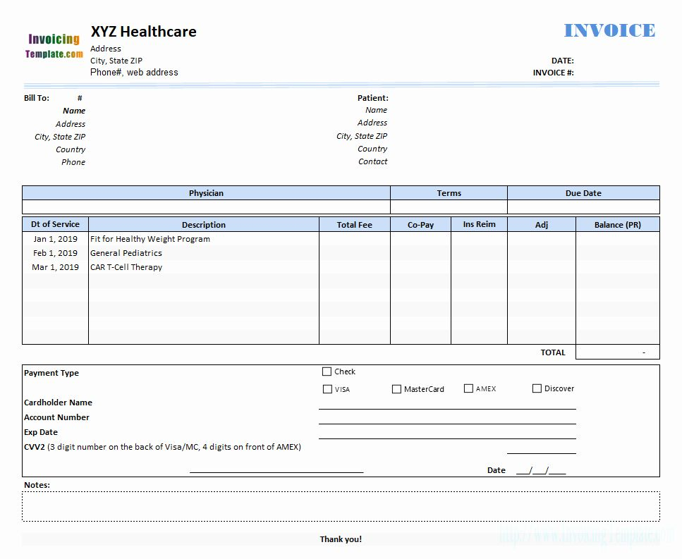 Invoice For Medical Records Template Best Of Medical Invoice Template 2 Bill Template Medical Records Medical Billing