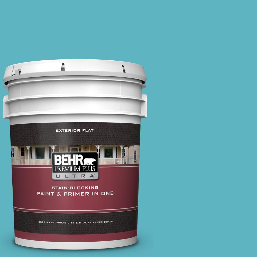 Behr Premium Plus Ultra 5 Gal Mq4 51 Adonis Flat Exterior Paint And Primer In One Behr Exterior Paint Interior Paint