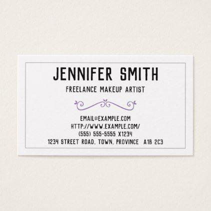 Minimal Freelance Makeup Artist Business Card Gifts Style Stylish Unique Custom Stylist