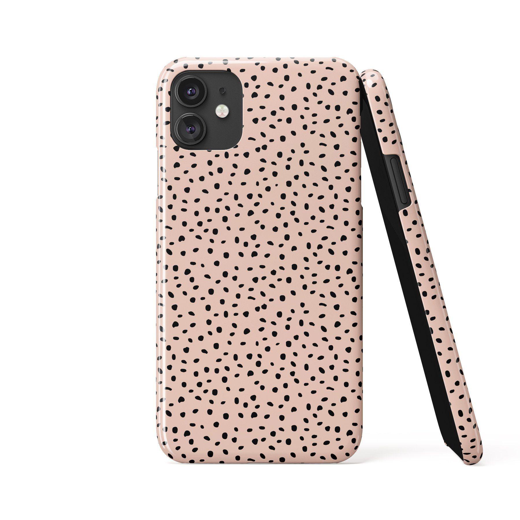 ALINA POLKA DOTS Light Pink Phone Case - iPhone X / Tough Case - Gloss
