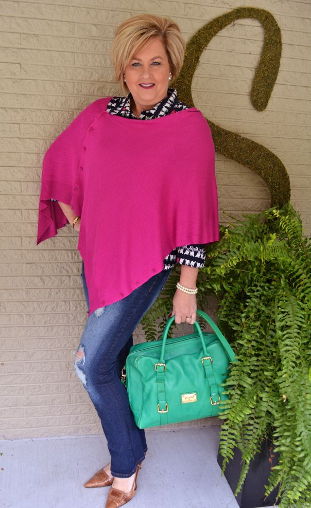 Fashion over 40  Pop of Color