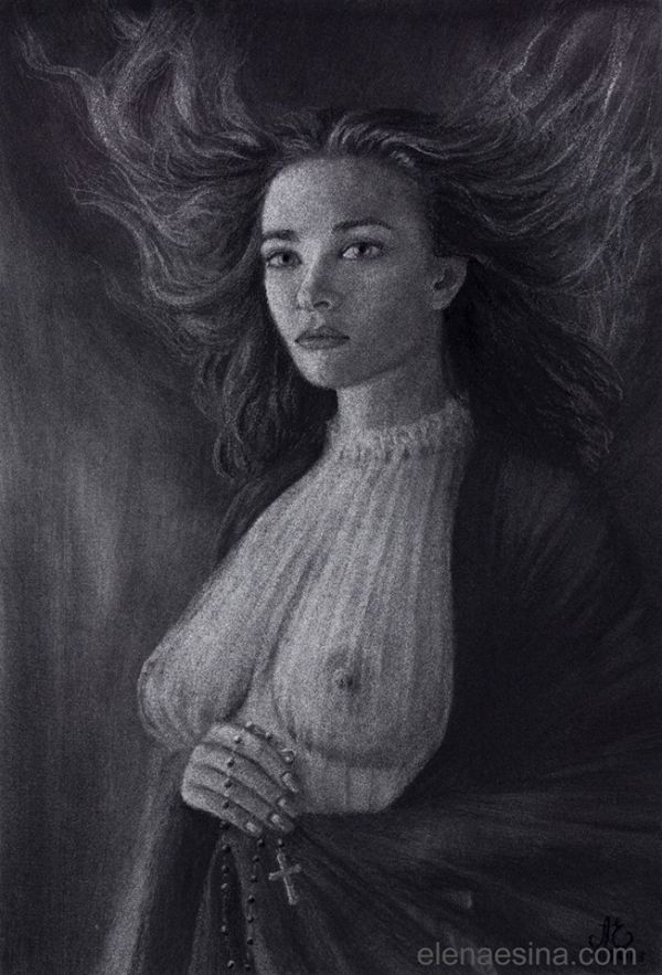 Art beautiful nude woman