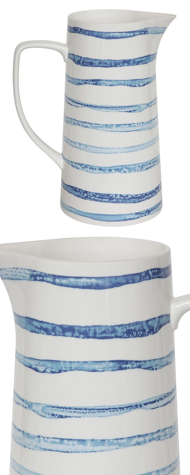 It's an easy kind of morning, slightly lazy and starting slow. A glass of juice from this Cape Cod Stoneware Pitcher is a fabulous way to start the day. Made from chic stoneware in cream with faint blu...  Find the Cape Cod Stoneware Pitcher, as seen in the A Rustic Cottage Collection at http://dotandbo.com/collections/a-rustic-cottage?utm_source=pinterest&utm_medium=organic&db_sku=119060