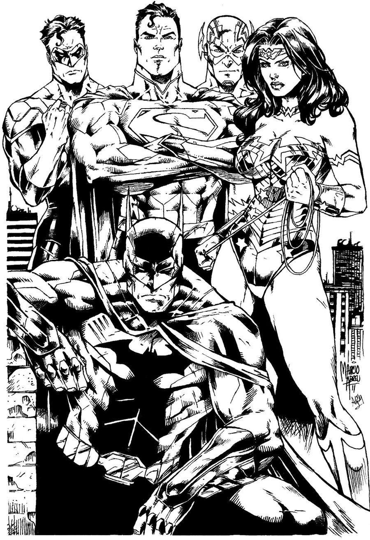 Marcio Abreu New 52 Justice League Inks Justice League Art Jim Lee Art Drawing Superheroes