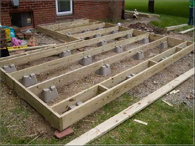 Do it yourself ground level deck google search for How to build a low deck