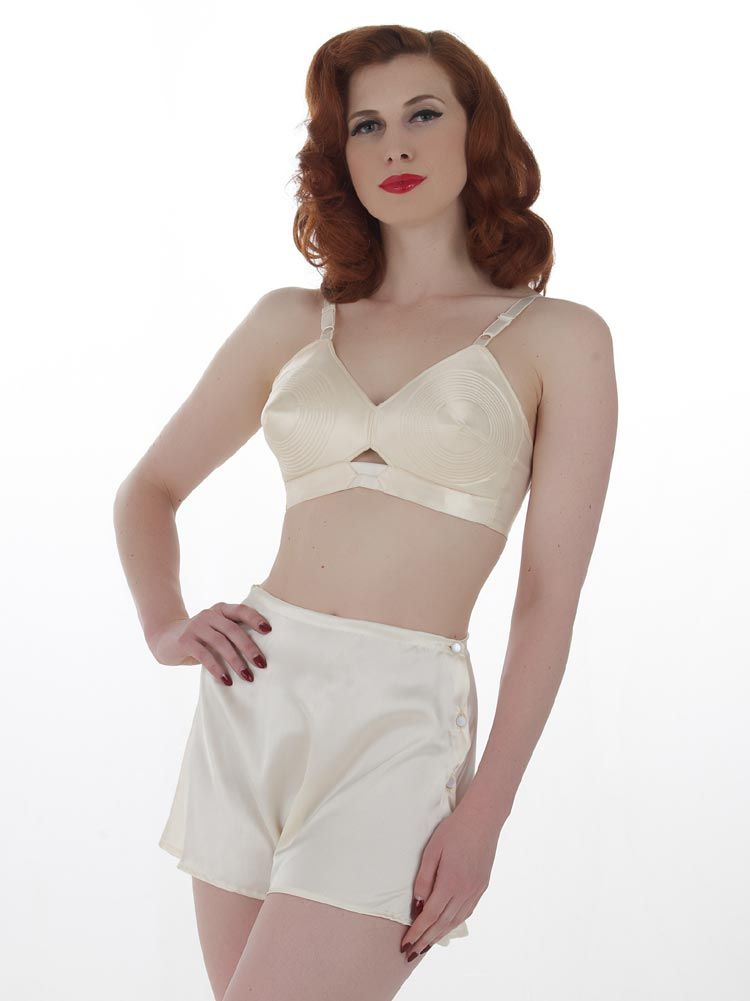 fd98f8cf3ac0 Soft satin vintage French Knickers based on a CC41 1940s pattern by What  Katie Did.