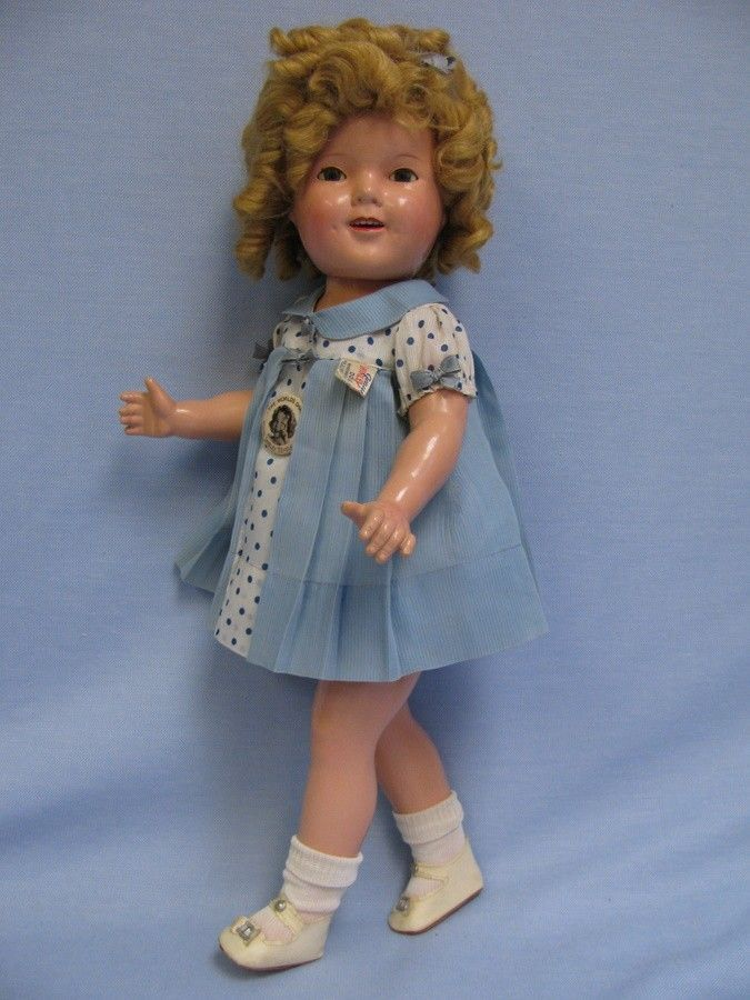 """Choice 20"""" Ideal Compo Shirley Temple c1936 All-Original CAPTAIN JANUARY Tag+Pin - For sale on Ruby Lane"""