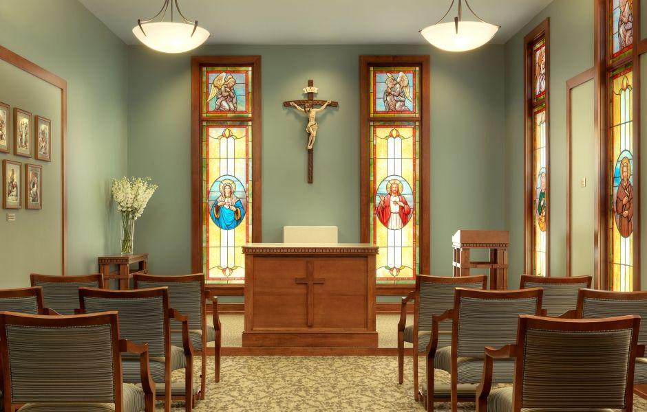 OSF Richard L. Owens Hospice Home chapel Healthcare
