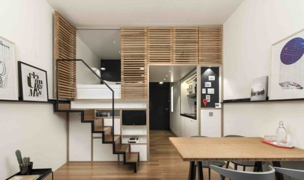Best 4 Awesome Small Studio Apartments With Lofted Beds Small 400 x 300
