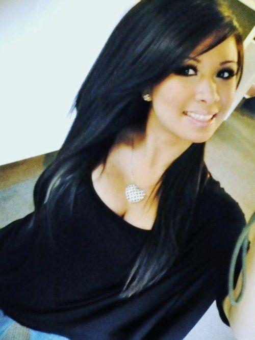 Imagenes de cortes de cabello largo negro