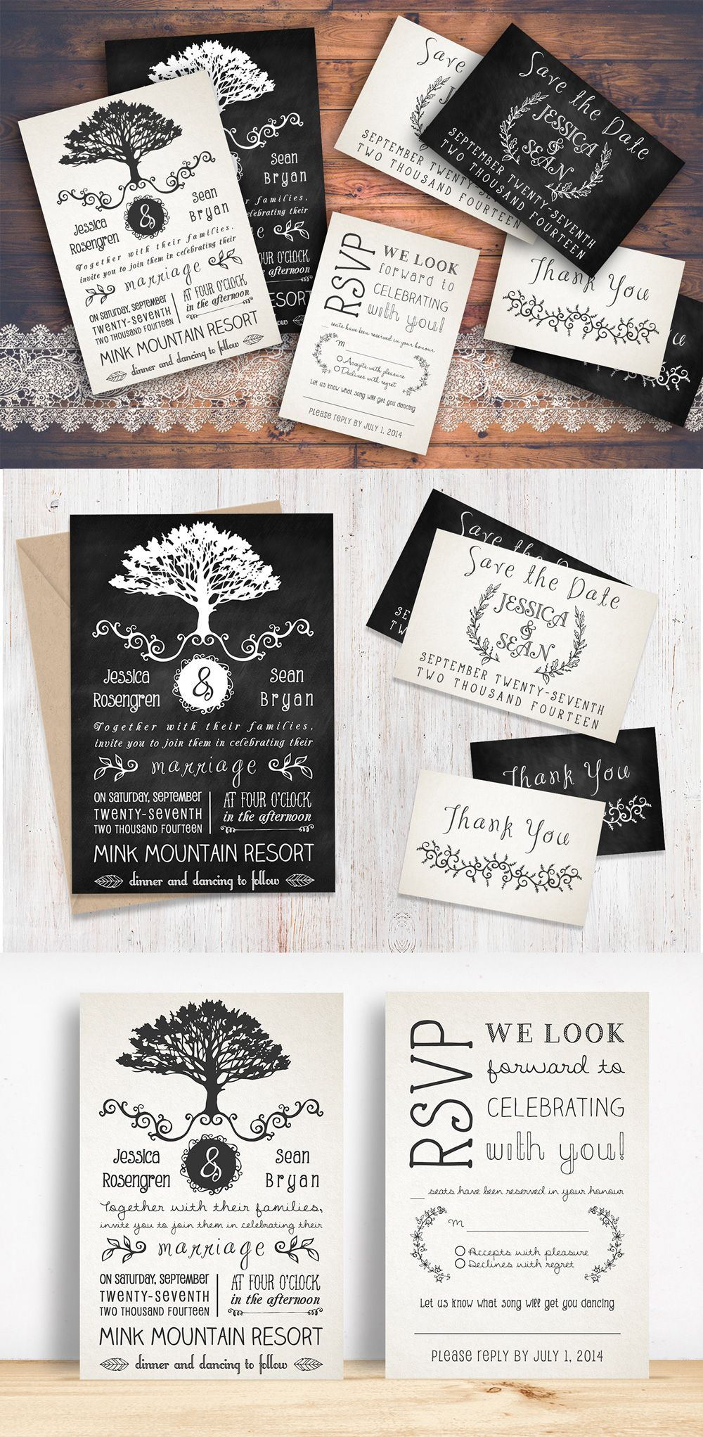 Rustic Wedding Invitation Pack | Diy rustic weddings, Rsvp and Wedding