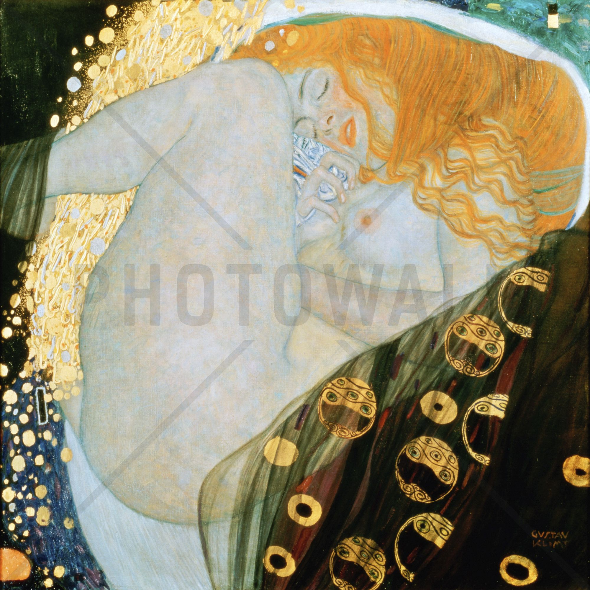 Danae, Gustav Klimt - Tapetit / tapetti - Photowall