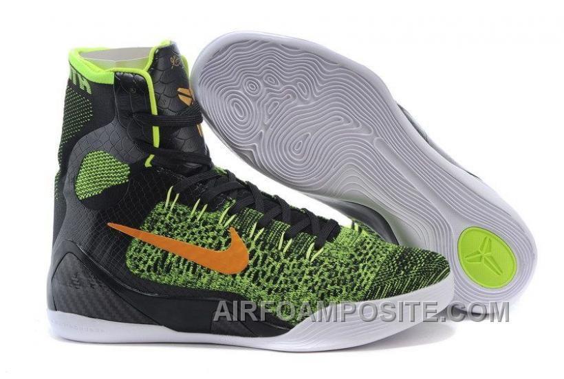Mens NK Kobe 9 Elite High-Top Basketball Shoes Black Green