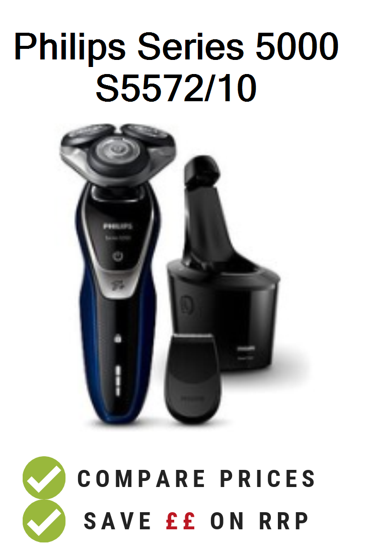 Philips Series 5000 Wet and Dry Men/'s Electric Shaver S5530//06 with Turbo mode.
