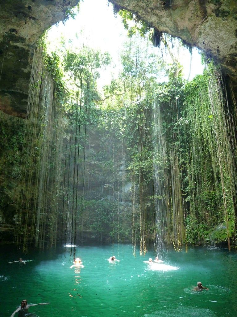 Ik kil cenote mexico copyright jill barraclough Chichen itza mexico natural swimming pool