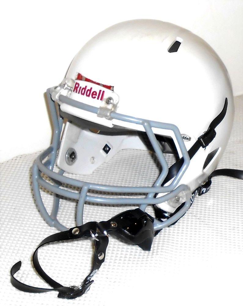 Riddell 2013 white adult medium football helmet gray mask