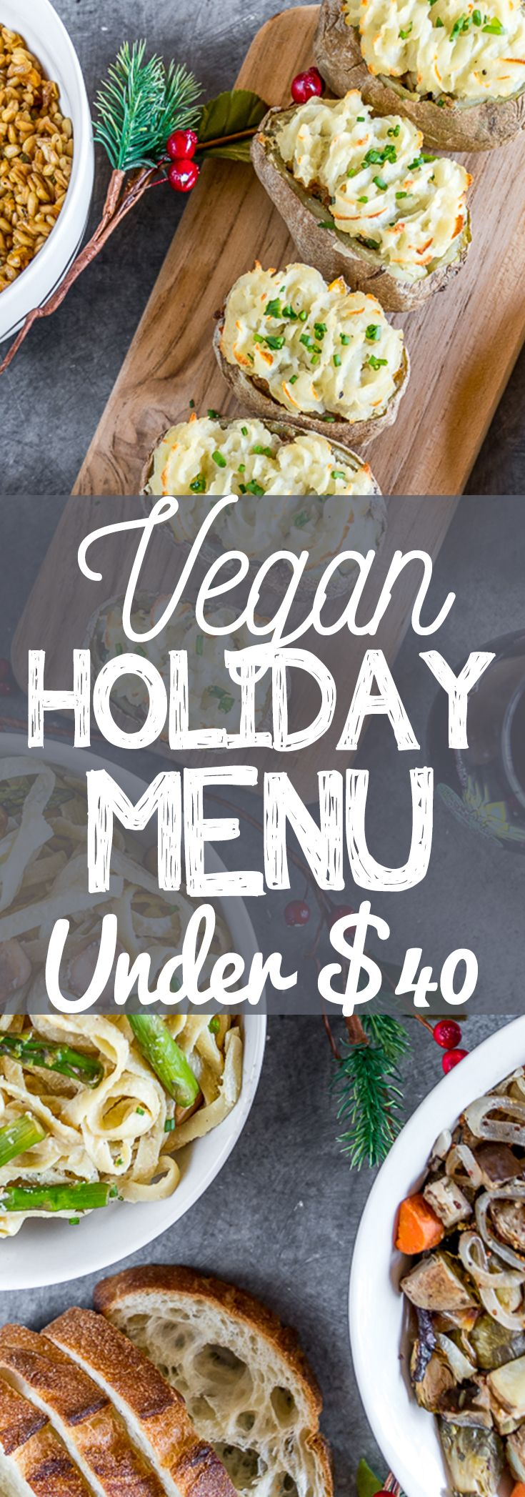 Vegan Holiday Menu on a Budget 4 Courses Under 40