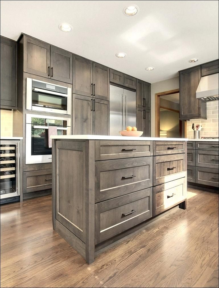 Best Stunning Distressed Oak Cabinets Gray Stained Oak Cabinets 400 x 300