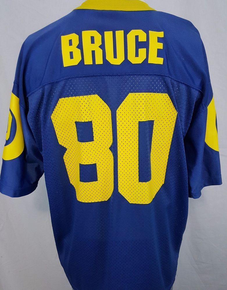 various colors 36ba1 8c2fb Vintage Isaac Bruce #80 St. Louis Los Angeles Rams NFL ...