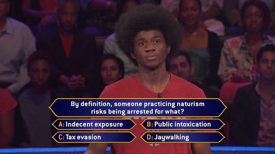 Friday, Leonard Cooper could be getting a lesson in naturism on an all-new #MillionaireTV. By definition, will that get him to the correct #FinalAnswer? Are you close enough to naturism to know? Don't miss Friday's all-new show with host Terry Crews to find out the answer. Go to www.millionairetv.com for local time and channel to watch!