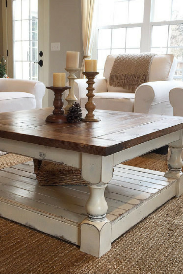 Coffee Table With Antique White Finish
