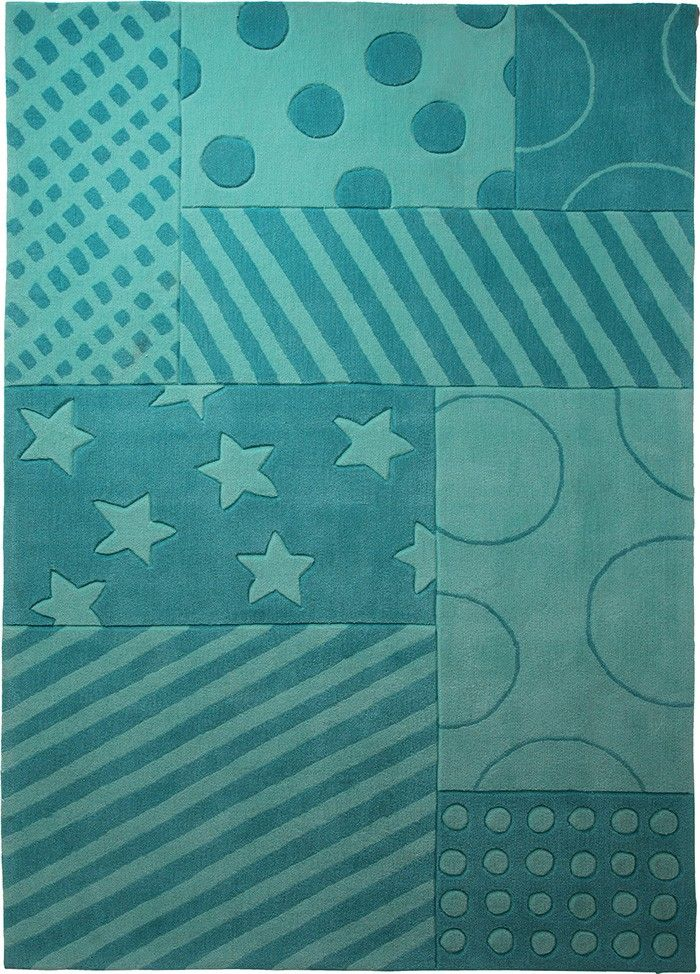 Kinder-Teppich, Esprit, »Stars And Stripes«, türkis ...