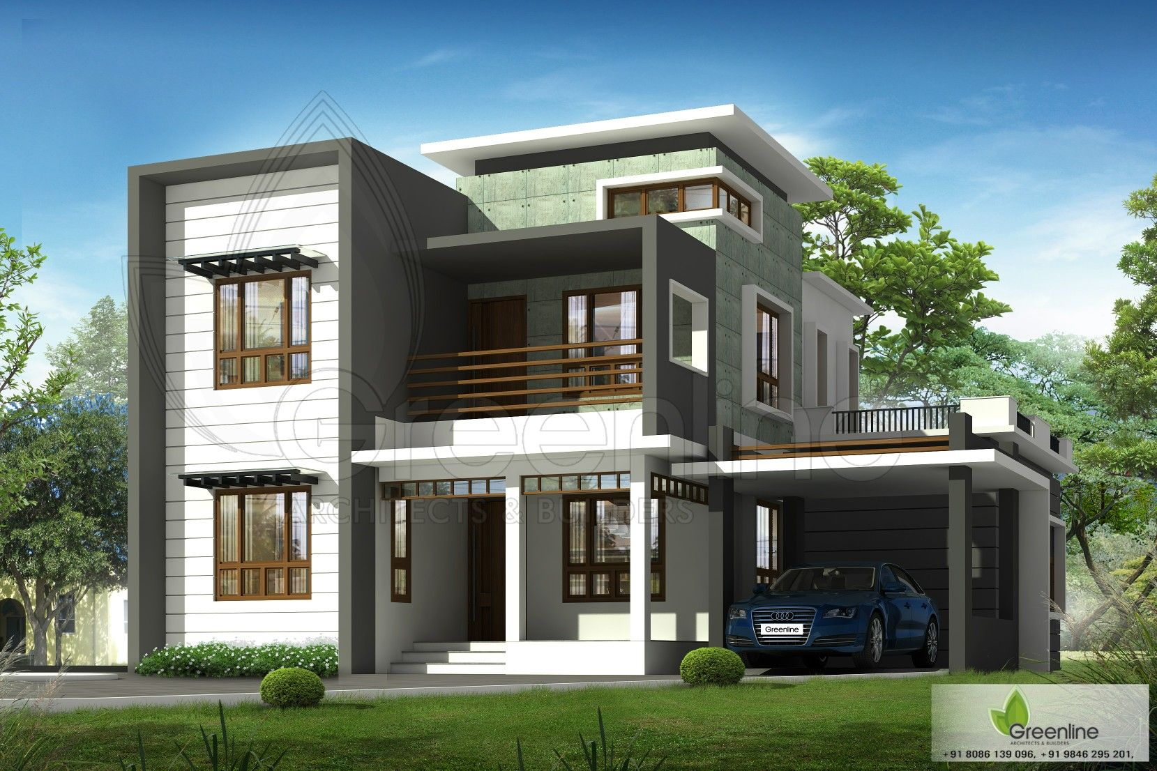 Modern Flat Roof House Design In 2019 Flat Roof House