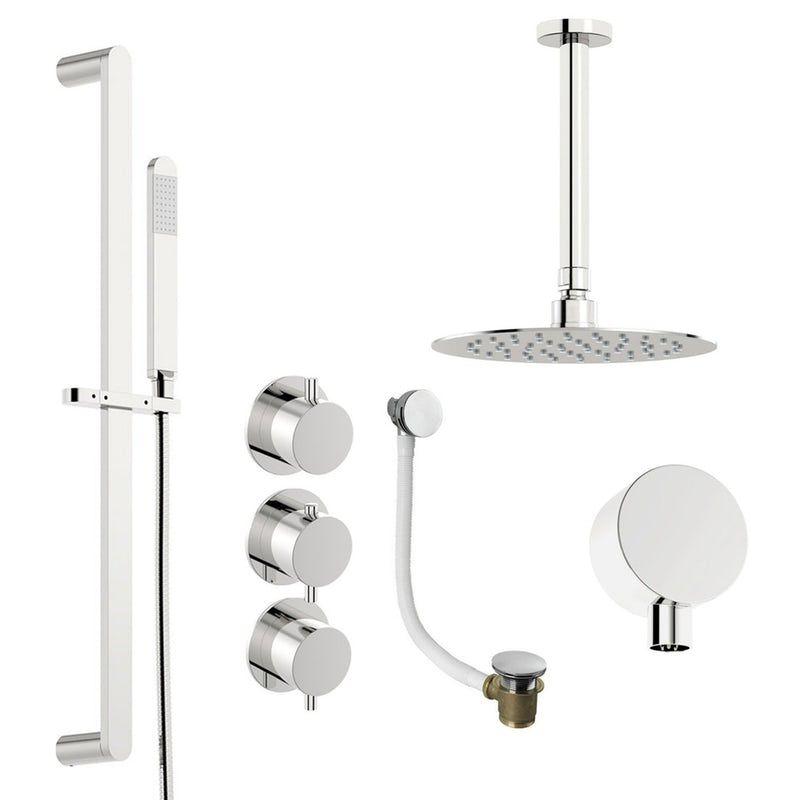Mode Hardy Thermostatic Shower Valve With Complete Ceiling Shower Bath Set Shower Valve Shower Fittings Bathroom Styling