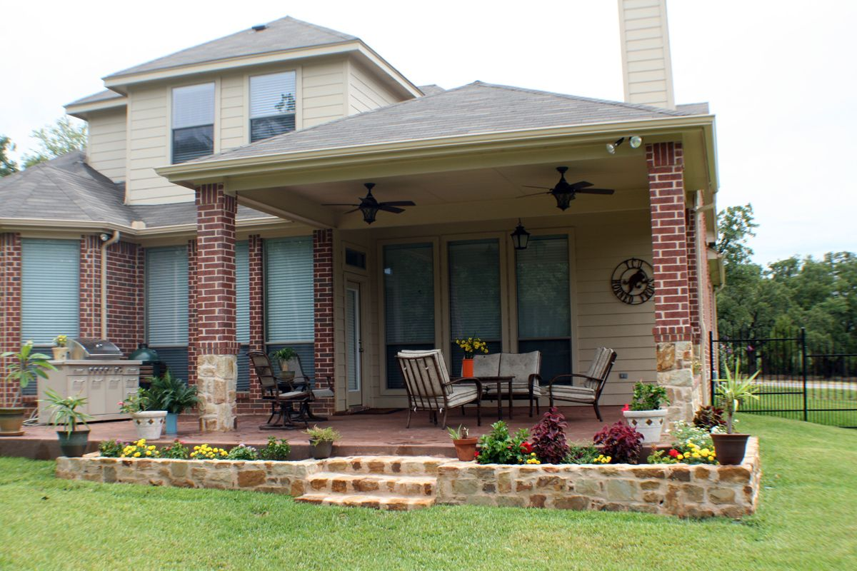 Durham Covered Porch With Hip Roof Brick Columns Outdoorliving Porches Brick Columns Covered Patio Design Covered Patio