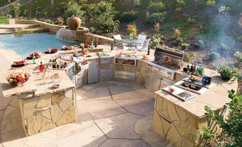 Astonishing Outdoor Kitchens Tampa Bay With Natural Stone