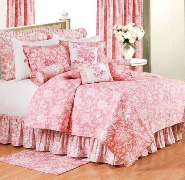 Shelby Pink Toile Quilt C | Pink U0026 White Toile Quilts, Draperies, Comforter  Sets, Bedspreads, Duvets And Daybeds | PaulsHomeFashions.com
