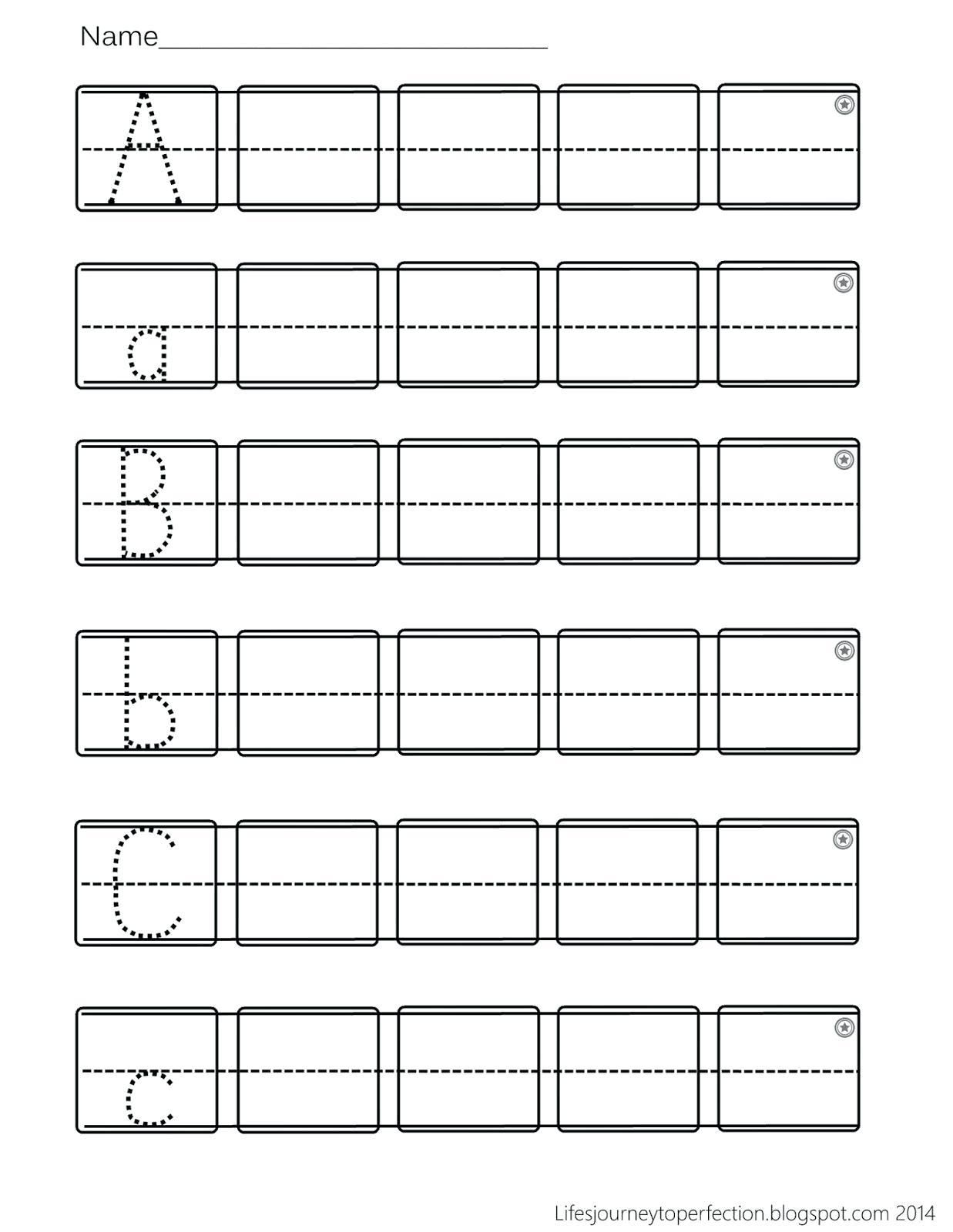 Abc Preschool Worksheets In