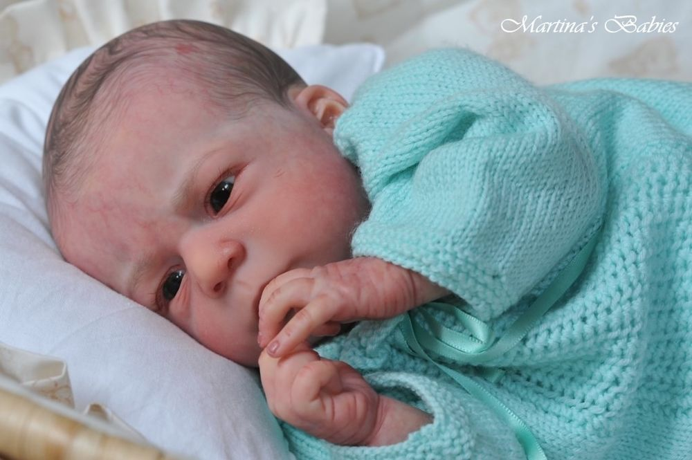 Martinas babies reborn real newborn baby boy doll sold out angel by olga auer